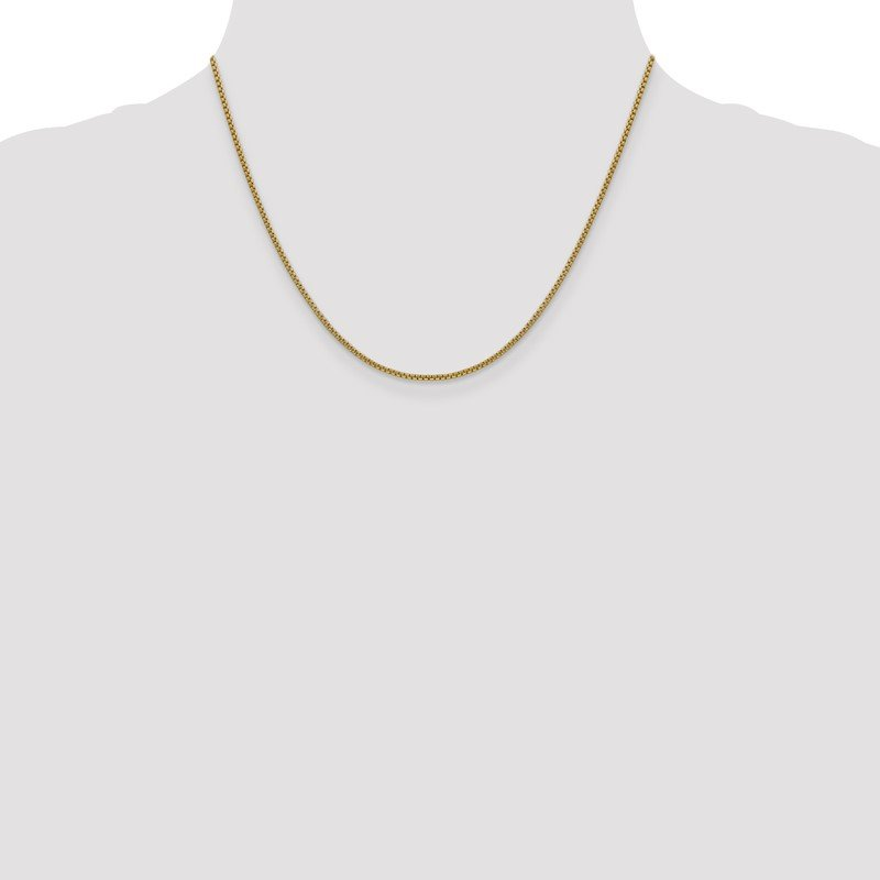 Quality Gold 14k 1.5mm Semi-Solid Round Box Chain