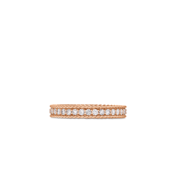 Princess Ring With Diamonds &Ndash; 18K Rose Gold