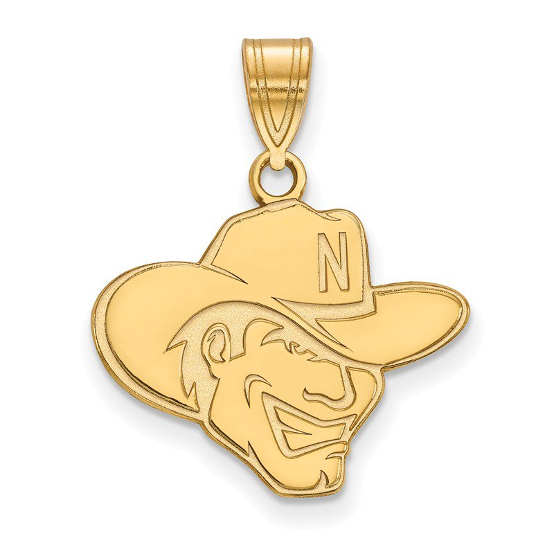 NCAA Gold-Plated Sterling Silver University of Nebraska NCAA Pendant