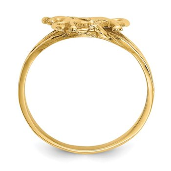14k Polished Horse Ring