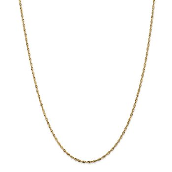 14k 1.8mm Extra-Light D/C Rope Chain