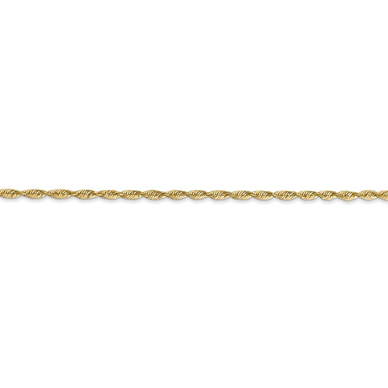 Quality Gold 14k 1.8mm Extra-Light D/C Rope Chain