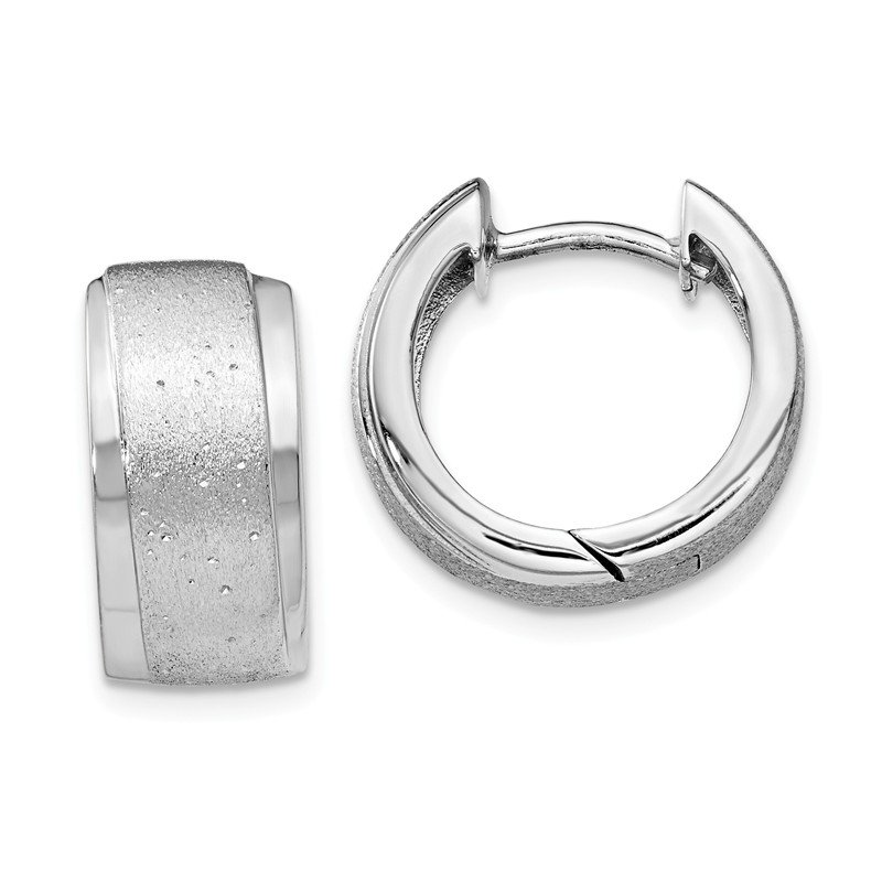 Leslie's Leslie's Sterling Silver Radiant Essence Hoop Earrings