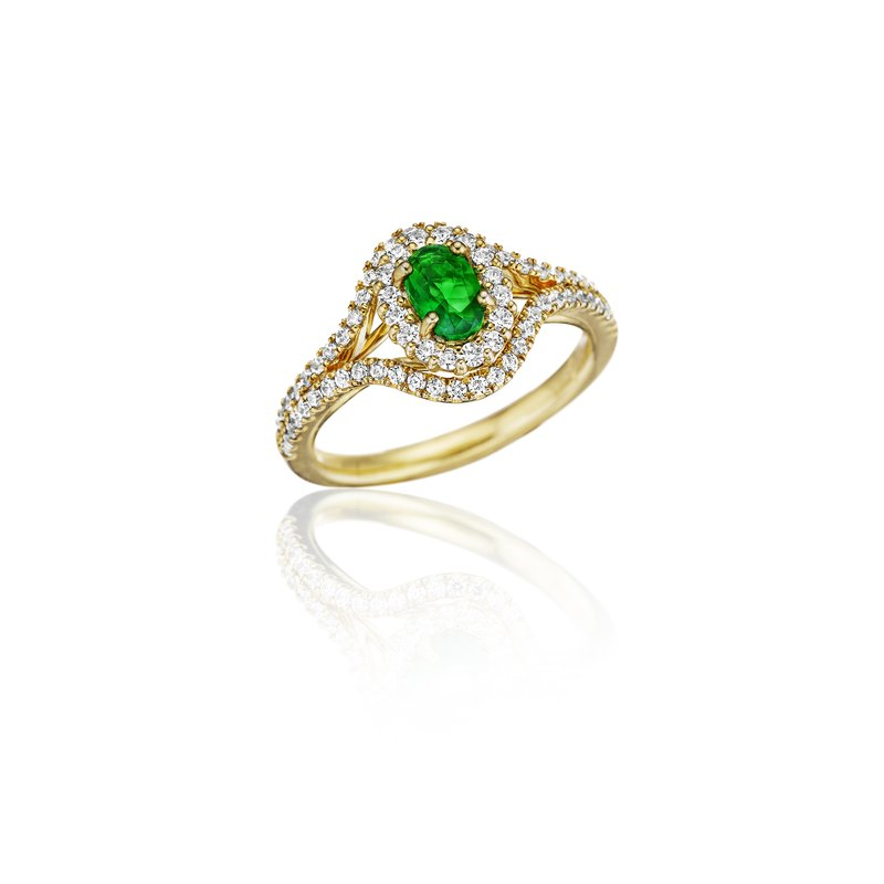 Better With You Emerald and Diamond Halo Ring