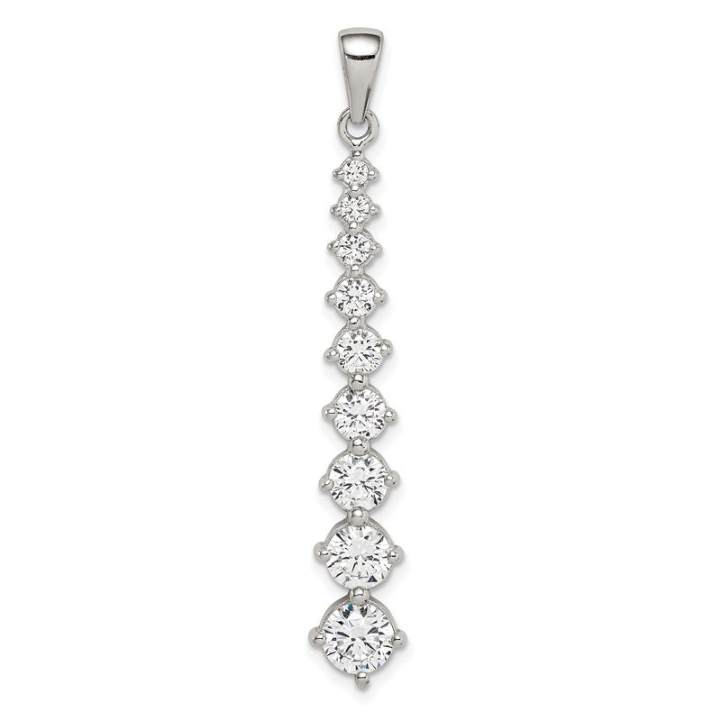 Quality Gold Sterling Silver Fancy CZ Pendant
