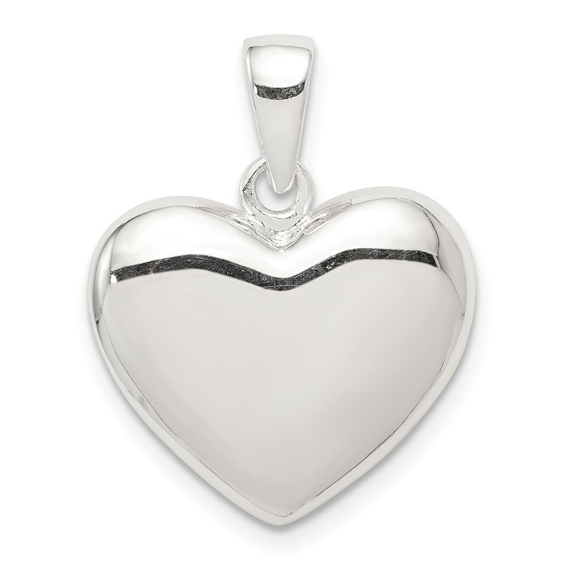 Quality Gold Sterling Silver Polished Heart Pendant