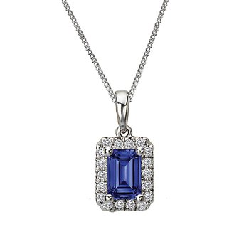 Ladies Fashion Diamond and Gemstone Pendant