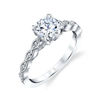 Unique Classic Engagement Ring - Elena