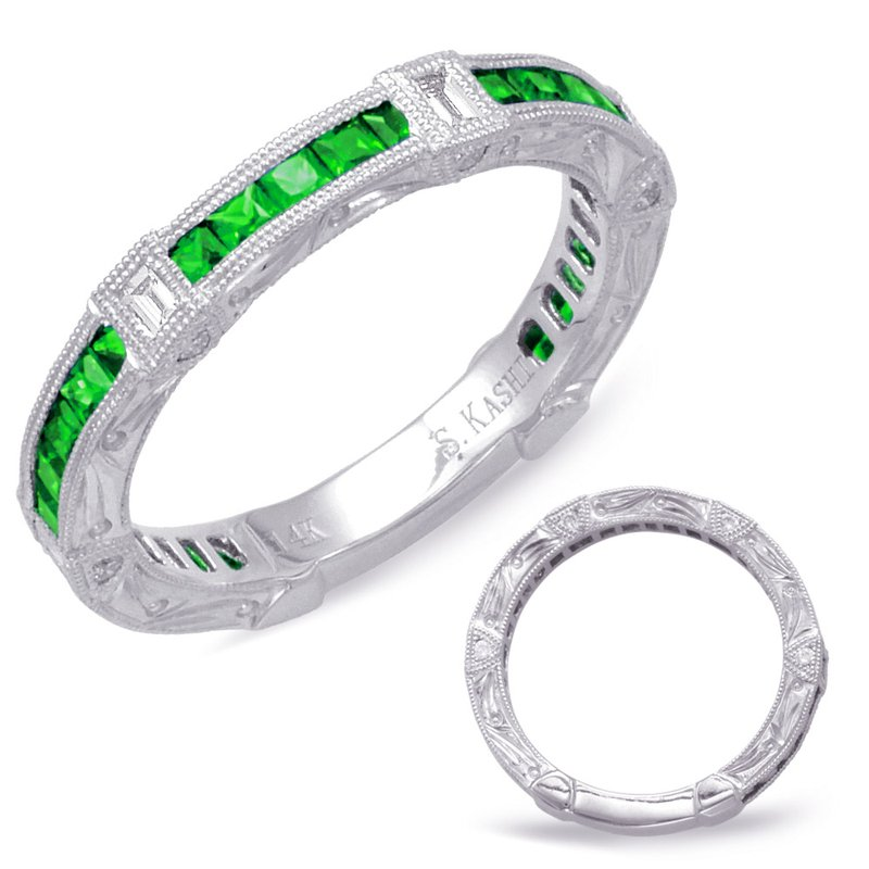 S. Kashi  & Sons Tsavorite & Diamond Band
