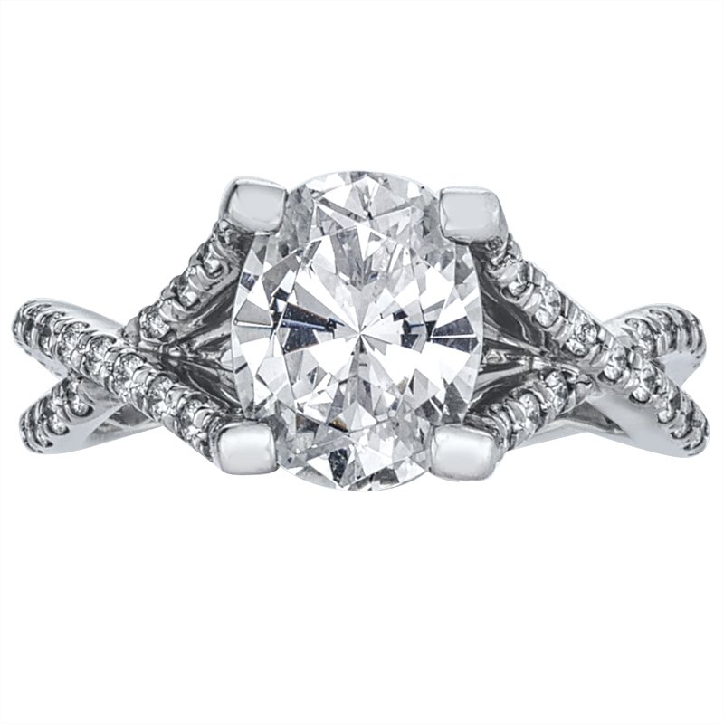 Mark Patterson Weave Pave Set Diamond Engagement Ring