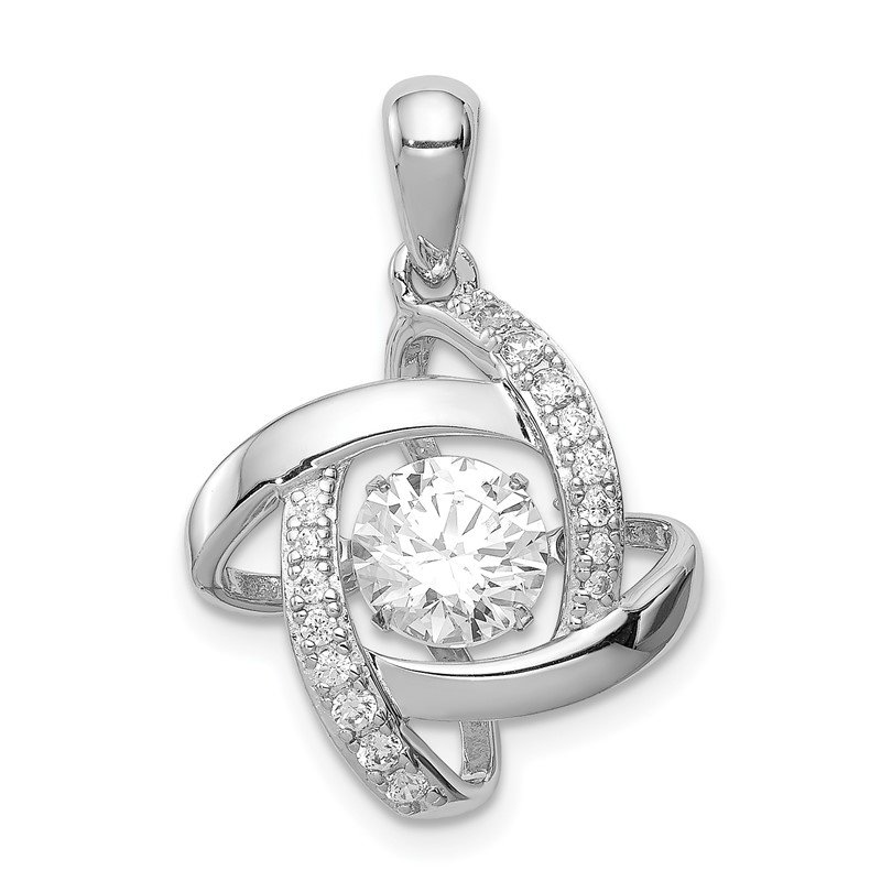 Lester Martin Online Collection Sterling Silver Platinum-plated Vibrant Swarovski Zirconia & CZ Pendant