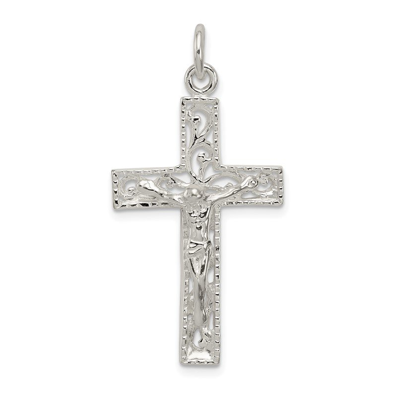 Quality Gold Sterling Silver Crucifix Pendant