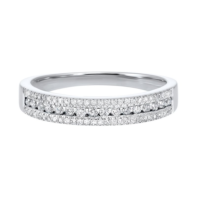 Calvin Broyles Triple Row Diamond Stackable Band in 14k White Gold (1/4ctw)