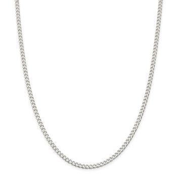 Sterling Silver 3.65mm Open D/C Curb Chain