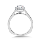 Valina Diamond Halo Engagement Ring Mounting in 14K White Gold (0.32 ct. tw.)