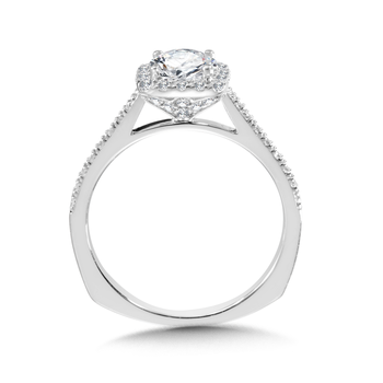 Diamond Halo Engagement Ring Mounting in 14K White Gold (0.32 ct. tw.)