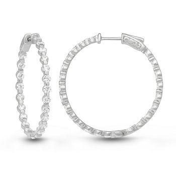 Shared Prong Inside Out Hoops