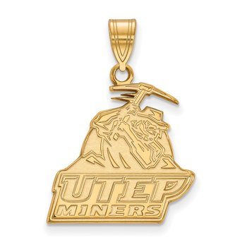 Gold-Plated Sterling Silver University of Texas at El Paso NCAA Pendant