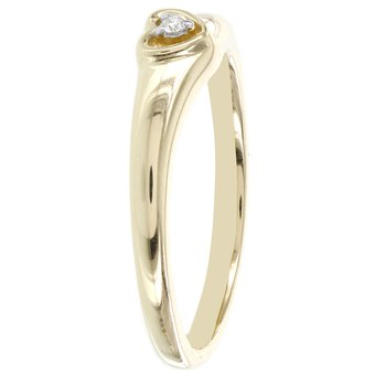 10k Yellow Gold Diamond Accent Heart Promise Ring