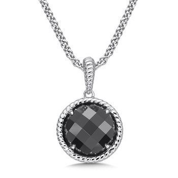 Sterling Silver Onyx Essentials Pendant