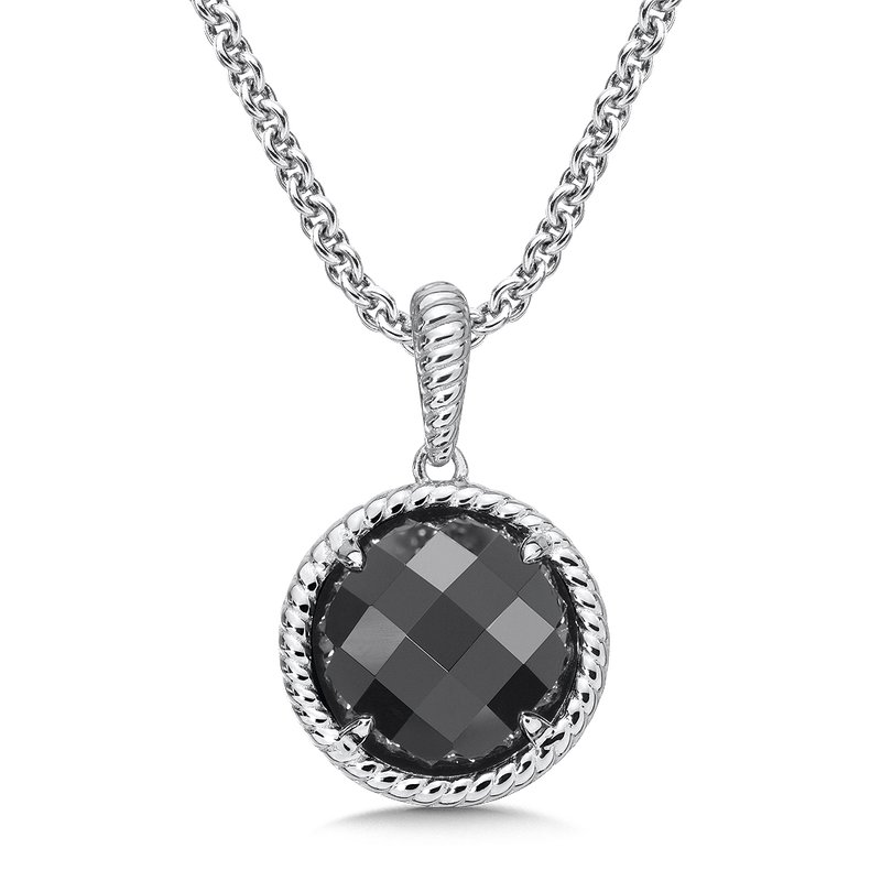 Colore Sg Sterling Silver Onyx Essentials Pendant