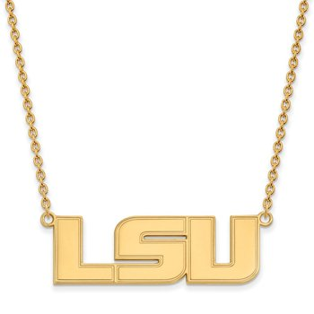Gold Louisiana State University NCAA Necklace