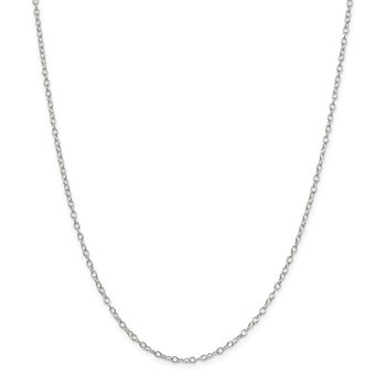 Sterling Silver 2.25mm Oval Cable Chain