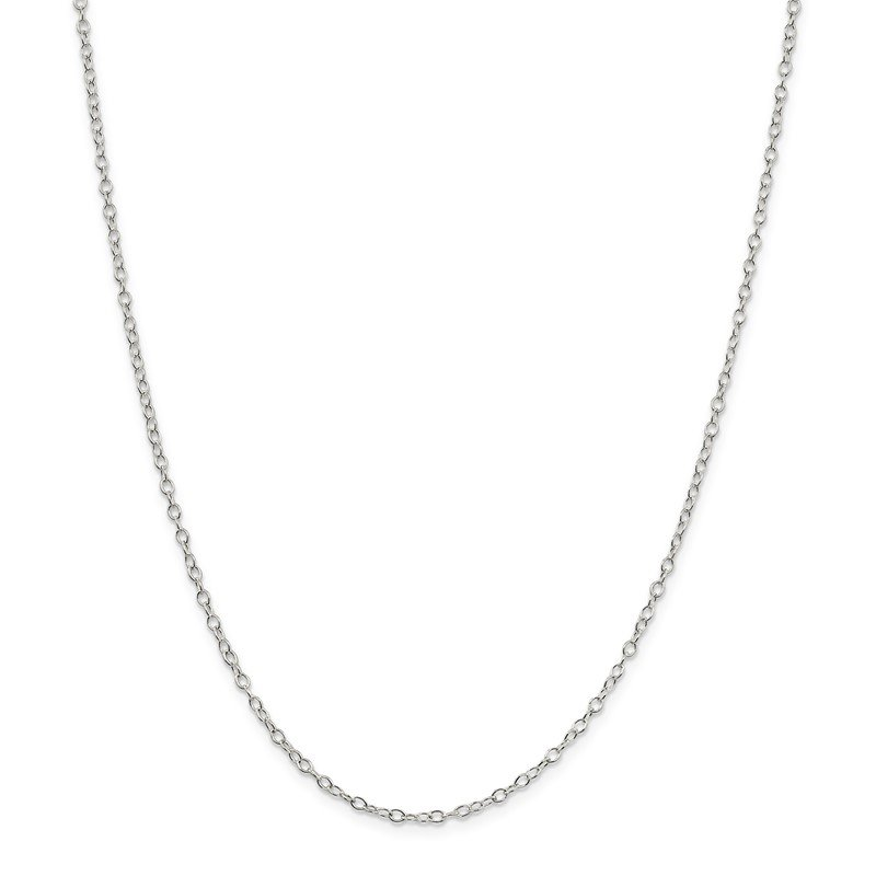 J.F. Kruse Signature Collection Sterling Silver 2.25mm Oval Cable Chain
