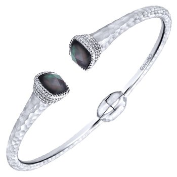925 Silver/stainless Steel Temptation Bangle