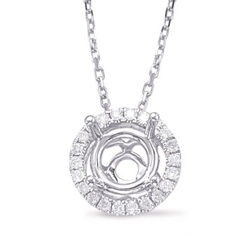 Diamond Pendant halo for .50ct center