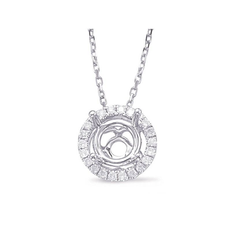 S. Kashi  & Sons Diamond Pendant halo for .50ct center
