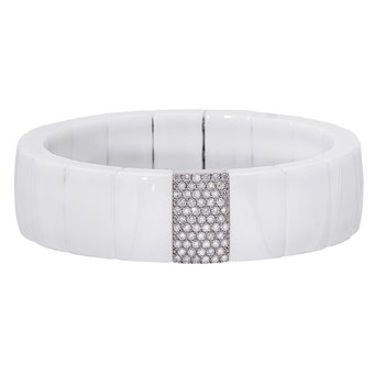 Domino White Ceramic Bracelet