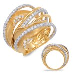 S. Kashi  & Sons White & Yellow Gold Diamond Fashion Ring