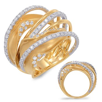 White & Yellow Gold Diamond Fashion Ring
