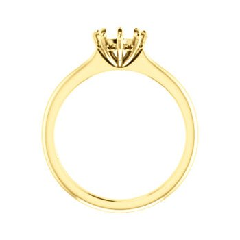 18K Yellow 6.5 mm Round 8-Prong Engagement Ring Mounting