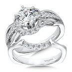 Valina Vintage Six-Prong Milgrain Diamond Engagement Ring
