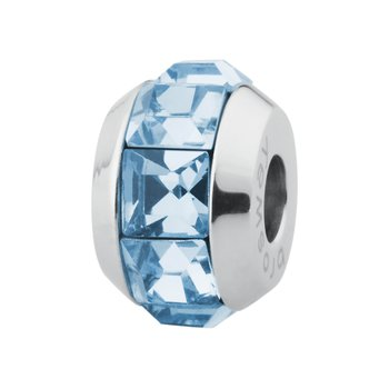 316L stainless steel and aquamarine Swarovski® Elements crystals.