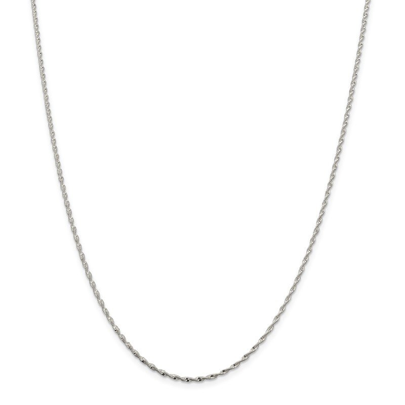 Quality Gold Sterling Silver 1.65mm Twisted Herringbone Chain