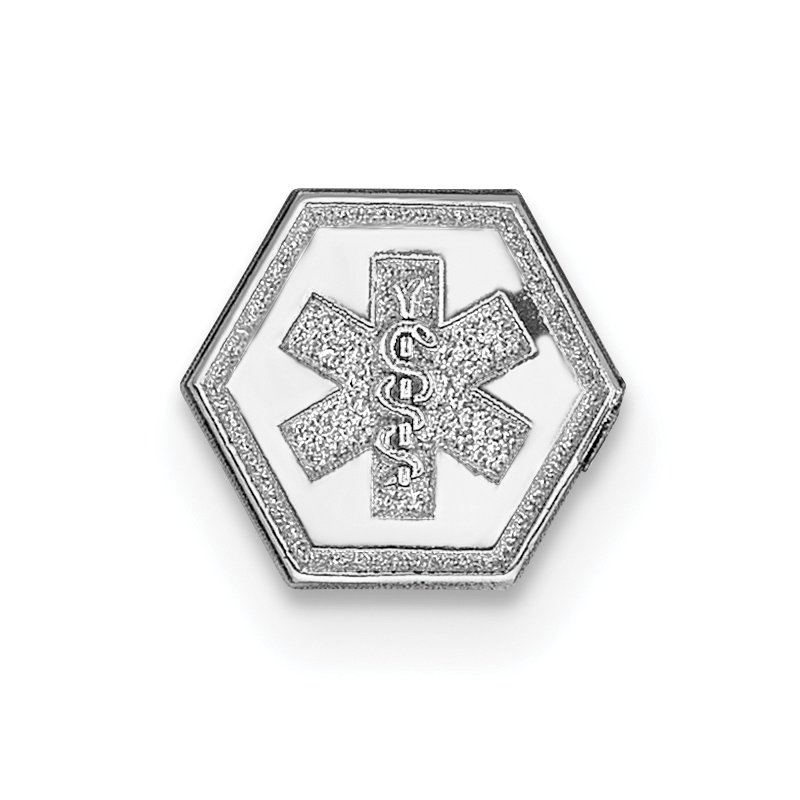 Quality Gold 14k White Gold Non-enameled Medical Jewelry Emblem
