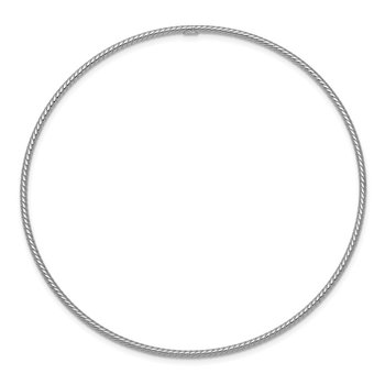 14k 1.5mm White Gold Textured Slip-on Bangle Bracelet