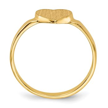 14k 6.5x7.5mm Open Back Heart Signet Ring