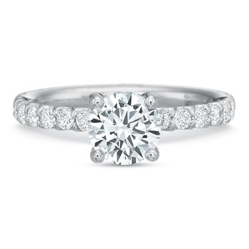 18K White gold Semi Mount for 0.75ct-1.50 ct center