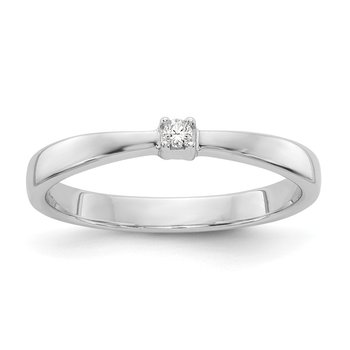 SS White Ice .03ct. Diamond Ring