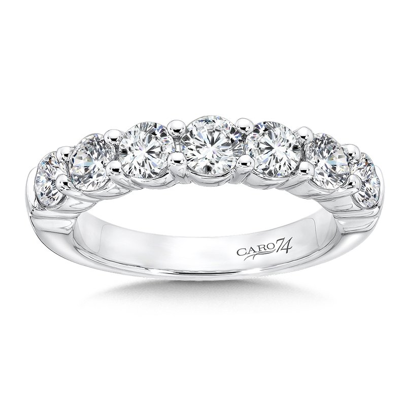 Caro74 CARO 74 Diamond Anniversary Band in 14K White Gold
