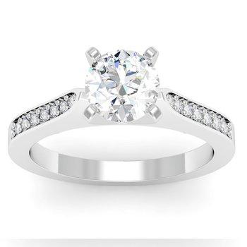 Petite Pave Diamond Setting