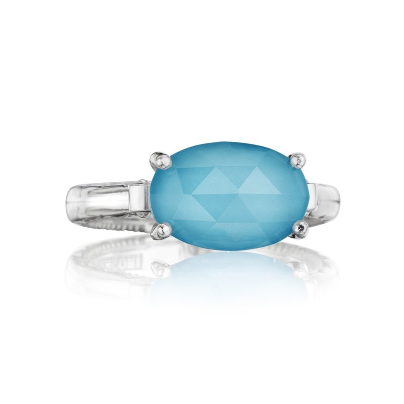 Tacori Fashion East-West Oval Ring featuring Neo-Turquoise