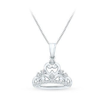 10K White Gold .13 ct. Diamond Fashion Pendant