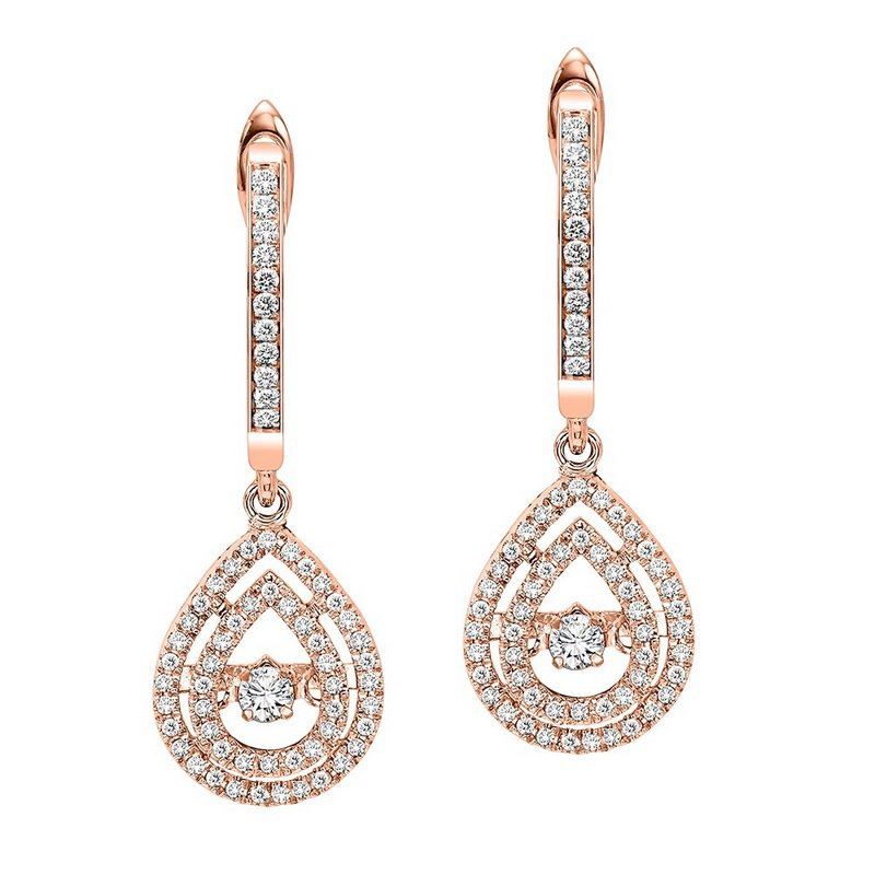 Rhythm of Love 14K Diamond Rhythm Of Love Earrings 1/2 ctw