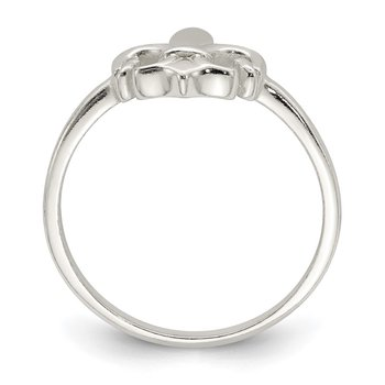 Sterling Silver Polished Fleur De Lis Ring