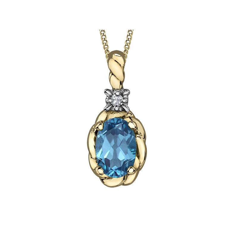 D of D Signature Blue Topaz Pendant
